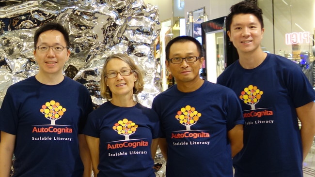 (From left to right) team leader Frank Ho, head of content Dana Rozier, head of technology Pazu Lai and front-end developer Chun Chi
