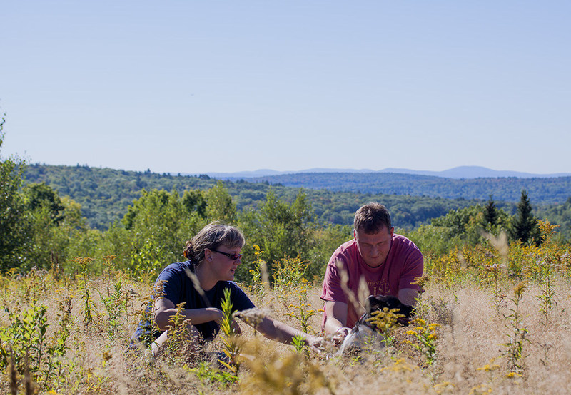 The founders of Fabula Nebulae, on their family farm in Maine.