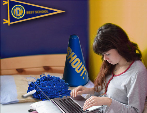 Painting a room in school colors is a subtle way to encourage a student to stay focused on his or her studies.