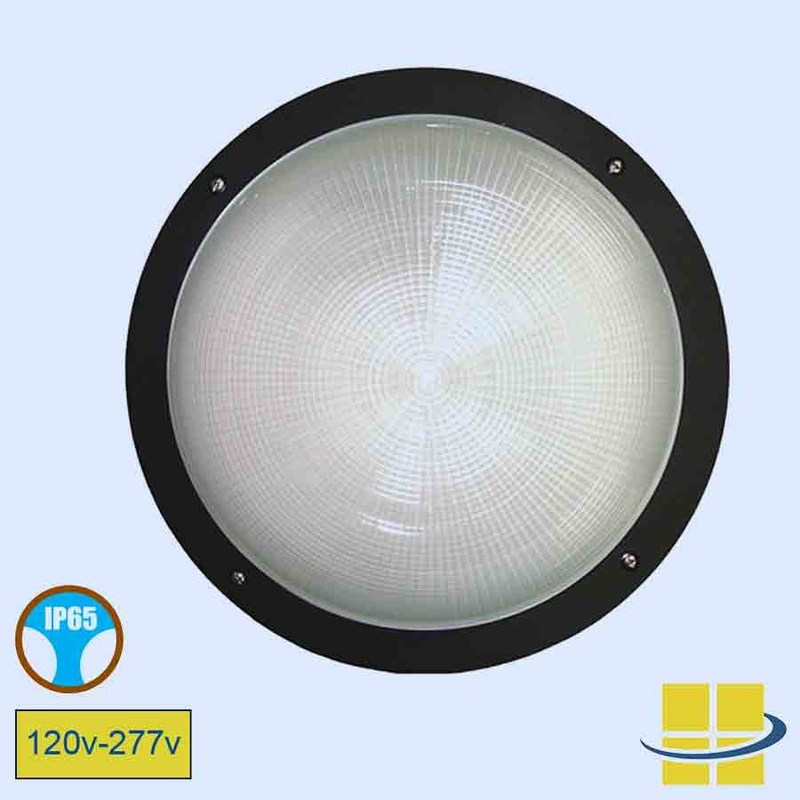 Round wall light open face
