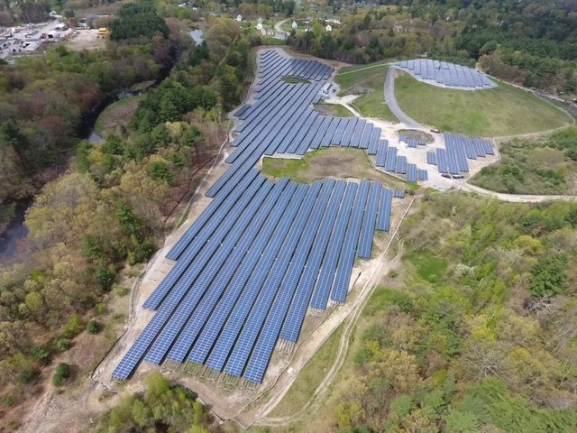 Hudson Stow Landfill now with Solar