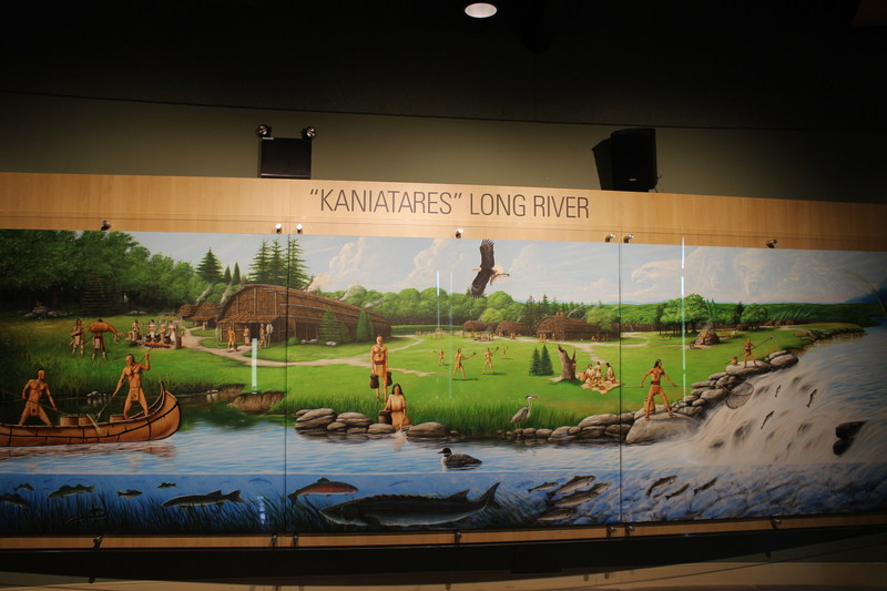 Stunning Mohawk Mural Unveiled at OPG St. Lawrence Visitor Centre in Cornwall (CNW Group/Ontario Power Generation Inc.)