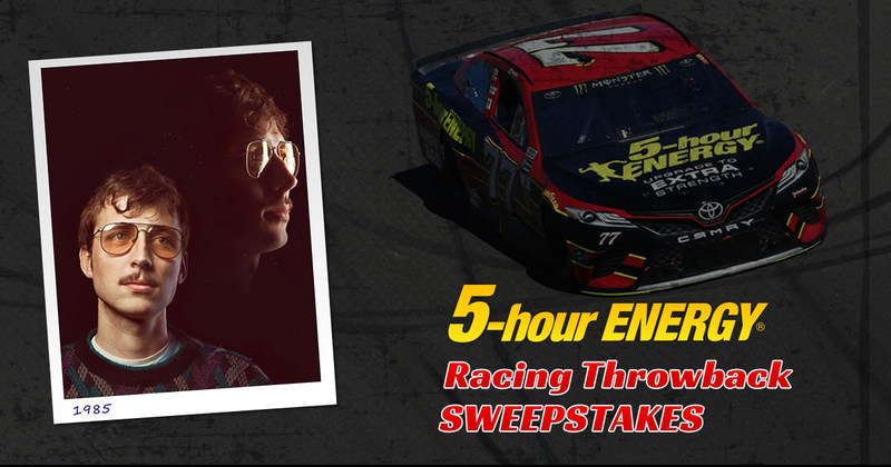 The grand prize of the Racing Throwback Sweepstakes is a trip to a premier series race, and the winning photo is featured on the hood of the 5-hour ENERGY® #77 Throwback themed race car at Darlington Raceway.
