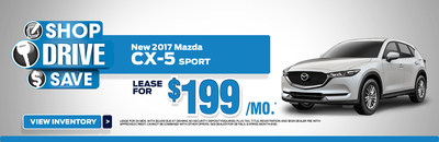 The 2017 Mazda CX-5 Sport is part of the Serra Mazda leasing incentives for the month of July. These offers increase options for shoppers looking to get into new Mazda vehicles.