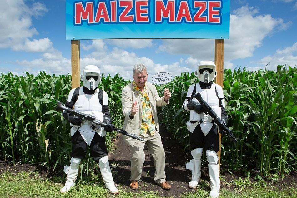 Admiral Ackbar opens 12 acre Star Wars Maize Maze in rural Cambridgeshire (PRNewsfoto/Skylark Garden Centre)