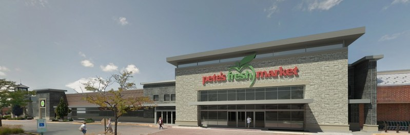 Artist rendering of new Pete's Fresh Market at Rice Lake Square in Wheaton