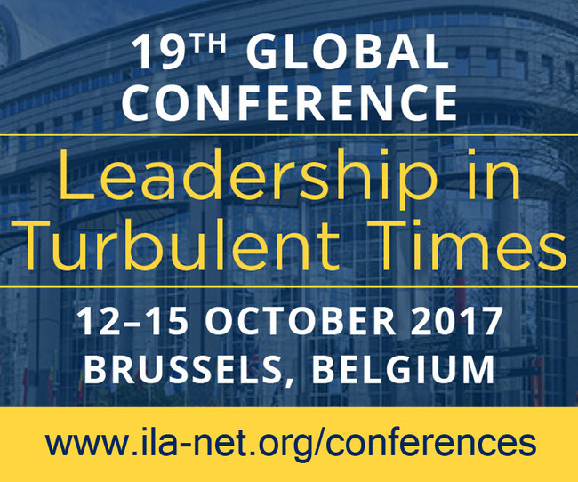 Conference registration is now open. To register or learn more about the International Leadership Association's 19th global conference, Leadership in Turbulent Times, please explore our conference website at http://www.ila-net.org/conferences. To request media credentials, please contact Debra DeRuyver at dderuyver@ila-net.org.