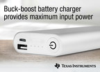 TI introduces single-chip buck-boost battery charge controllers enabling USB Type-C™ and USB Power Delivery support