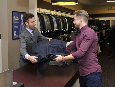 Men's Wearhouse Teams Up With Derek Hough And National Sports Coaches For 10th Annual National Suit Drive