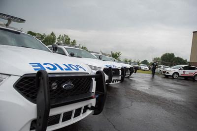 Crédit photo : Christian Tousignant. Mise en opération du Service de police municipal – Ville de Mercier 17 juillet 2017 (Groupe CNW/Ville de Mercier)