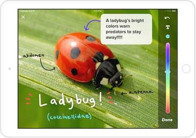 ClassDojo Student Stories: Draw and annotate feature