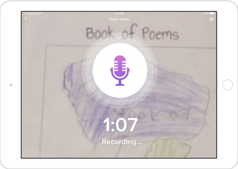 ClassDojo Student Stories: Voice notes feature