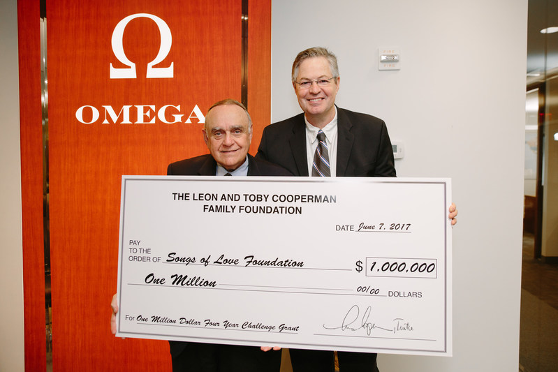 (Pictured Left to Right) Leon Cooperman and Songs of Love Founder John Beltzer