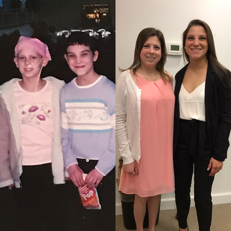 (Pictured Left to Right) Victoria Sidorski and Danielle Dugan - Then and Now!