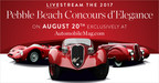 Pebble Beach Concours d'Elegance® and AUTOMOBILE Announce Pebble Beach Concours Livestream Presented by Michelin