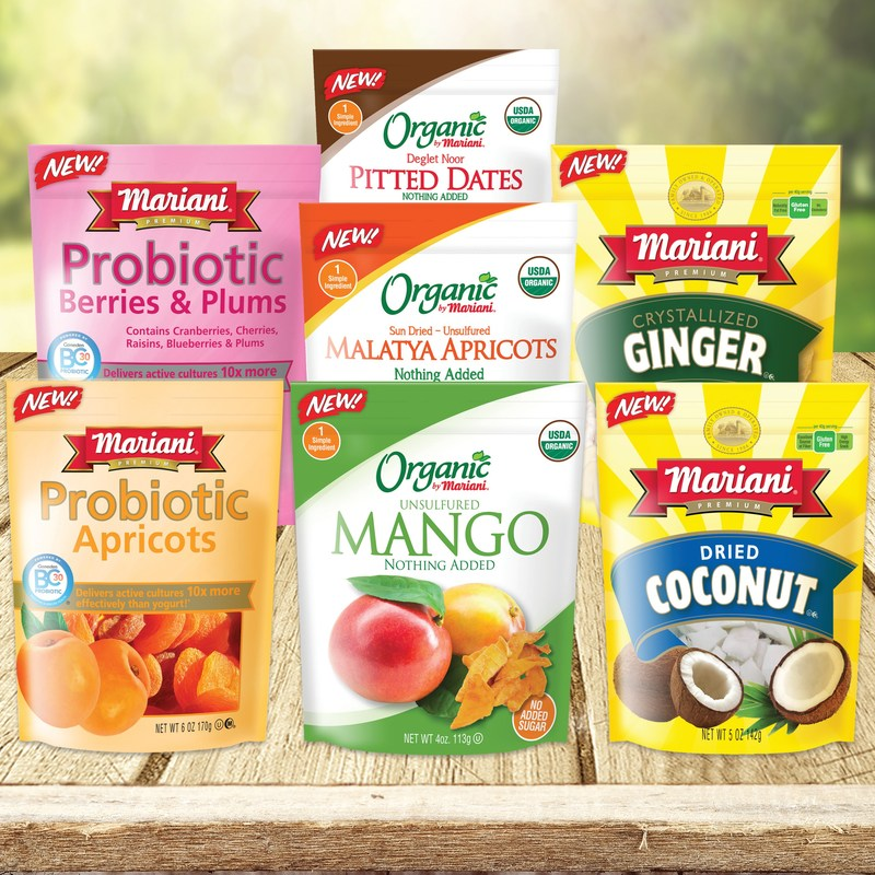 Mariani Packing Company has announced the launch of eight new products for its retail product line.