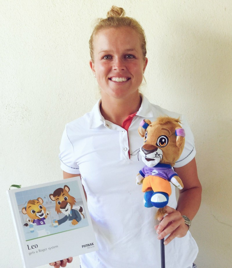 """Golf Pro Kaylin Yost participating at the 2017 Deaflympics Summer Games, kicked off today in Samsun, Turkey, says: """"I want kids to know that being deaf or wearing hearing aids should never stop you from achieving your dreams. And I'm so excited to have Leo the Lion along with me to help spread that message."""""""