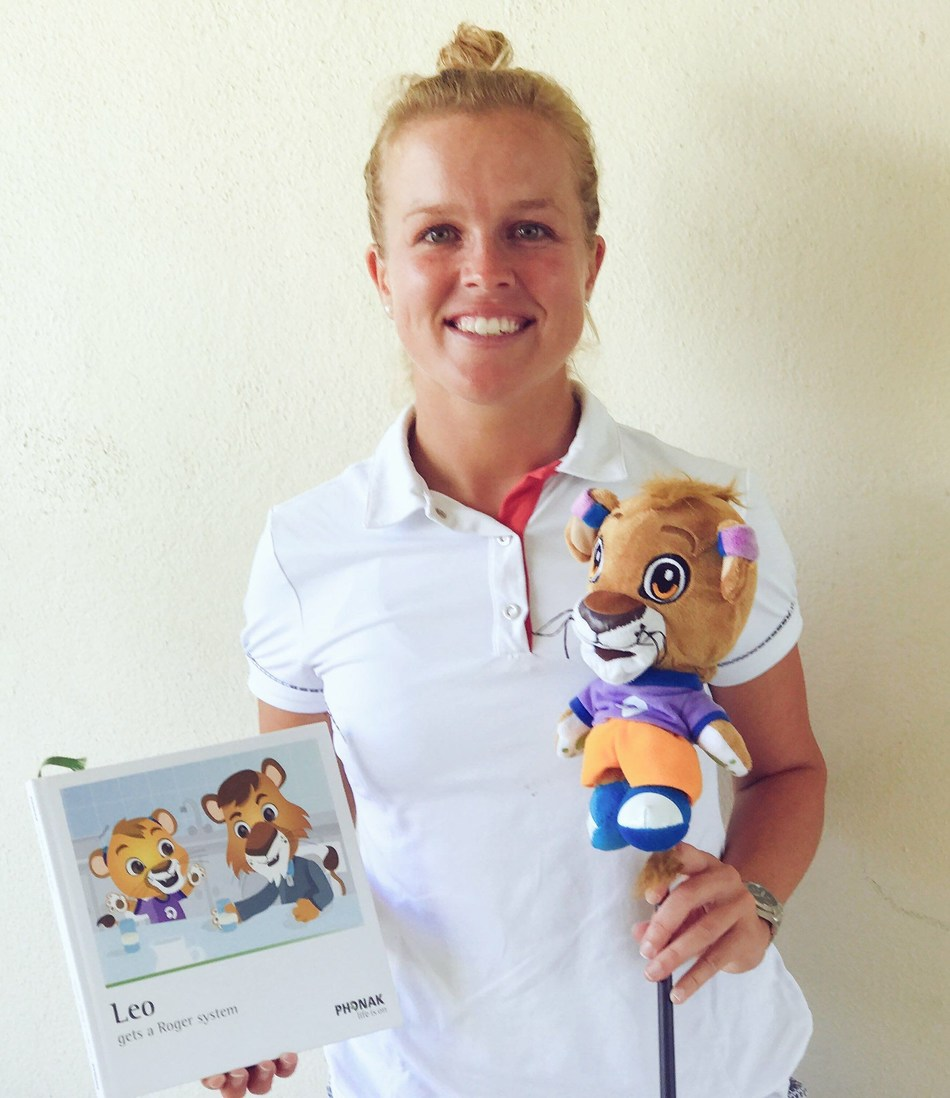 "Golf Pro Kaylin Yost participating at the 2017 Deaflympics Summer Games, kicked off today in Samsun, Turkey, says: ""I want kids to know that being deaf or wearing hearing aids should never stop you from achieving your dreams. And I'm so excited to have Leo the Lion along with me to help spread that message."""