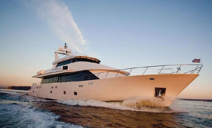 125 foot super yacht rented by BudTrader.com for San Diego Comic-Con.