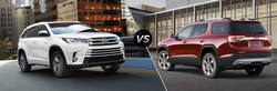 The NYE Toyota dealership has created a new research tool to help shoppers. This research tool shows the differences between the 2017 Toyota Highlander and 2017 GMC Acadia so shoppers can make a decision on which is the better model.