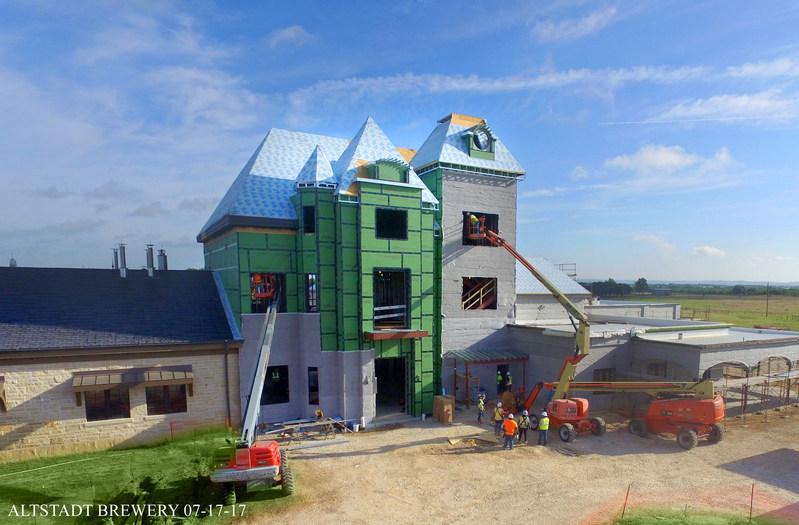 Altstadt Brewery Clock Tower 07-20-17 Roof Raising Event