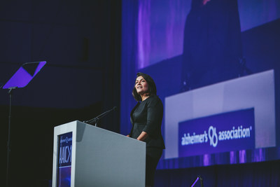 Maria Carrillo, Ph.D., Chief Science Officer at the Alzheimer's Association, addresses AAIC 2017 in London.