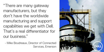 Emerson worked with Dell to develop a new wireless valve monitoring solution built on Dell Edge Gateways.
