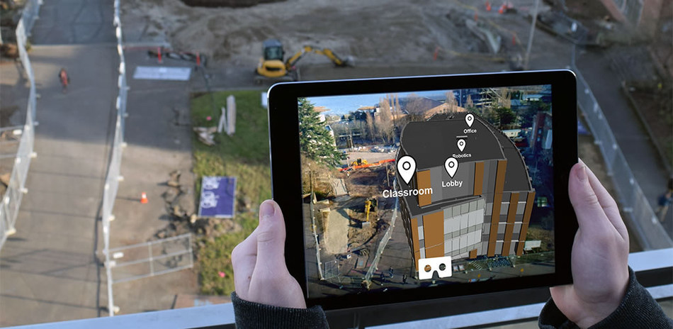 "After pioneering the use of virtual design in construction, Mortenson Construction has developed a first-of-its-kind augmented reality (AR) mobile app to help the University of Washington community ""see"" its future CSE2 computer science building – well before its doors open to students in January 2019. Users can experience the building's exterior in AR, and can then teleport inside for an immersive virtual reality (VR) experience."