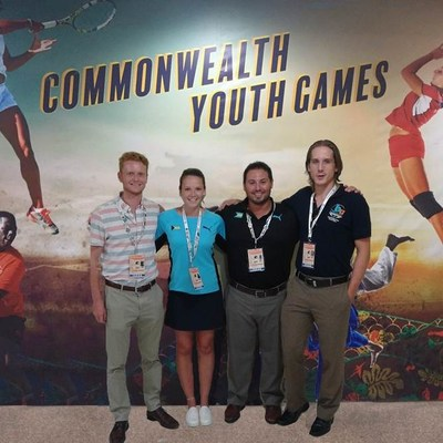 Geordie Moss, Emily Stratford, Matt Spina and Luke Giffen. (CNW Group/Commonwealth Games Association of Canada)