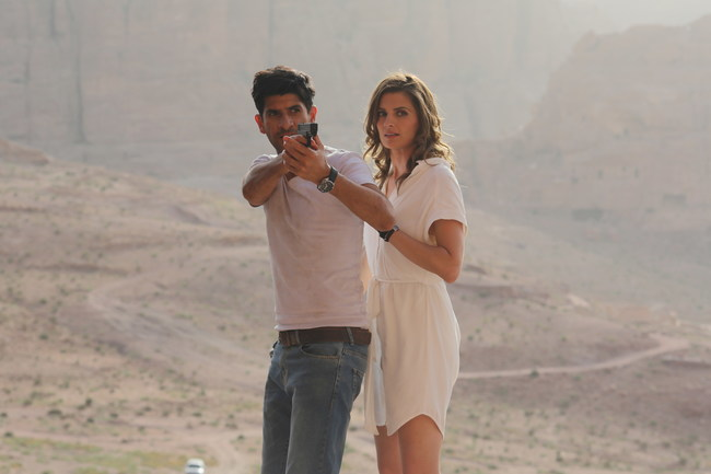 "Raza Jaffrey and Stana Katic star in ""The Rendezvous"""