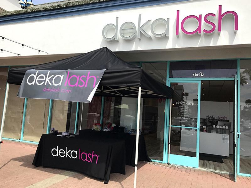 Outside of the Deka Lash Redondo Beach Studio at the Redondo Shores Shopping Center