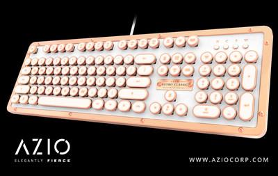 AZIO Unveils Industry First Vintage Typewriter-Inspired Keyboard With Luxury Backlit Keys