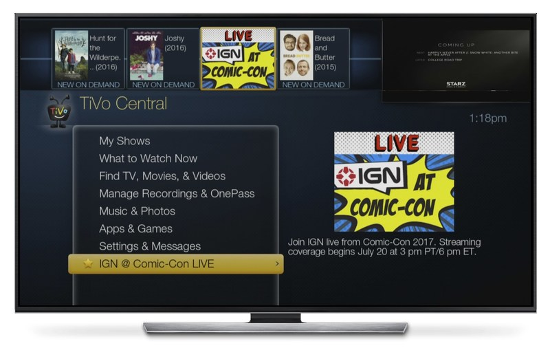 Cable subscribers watch Comic-Con live stream on their set-tops.
