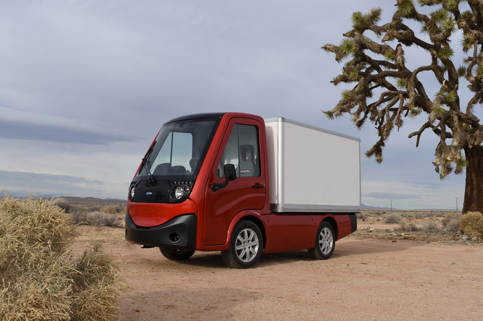 The Cenntro METRO is an all-electric compact utility vehicle now available in the U.S. through Tropos Technologies.  A highly flexible, and modular CUV, it is ideally suited for local delivery, maintenance crew transportation, parking enforcement, and people transport on campuses or in communities. (PRNewsfoto/Tropos Technologies, Inc.)