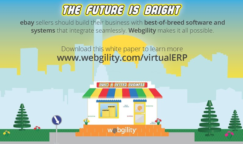 Stop by the Webgility booth at eBay Open to hear all about the Virtual ERP for e-Commerce