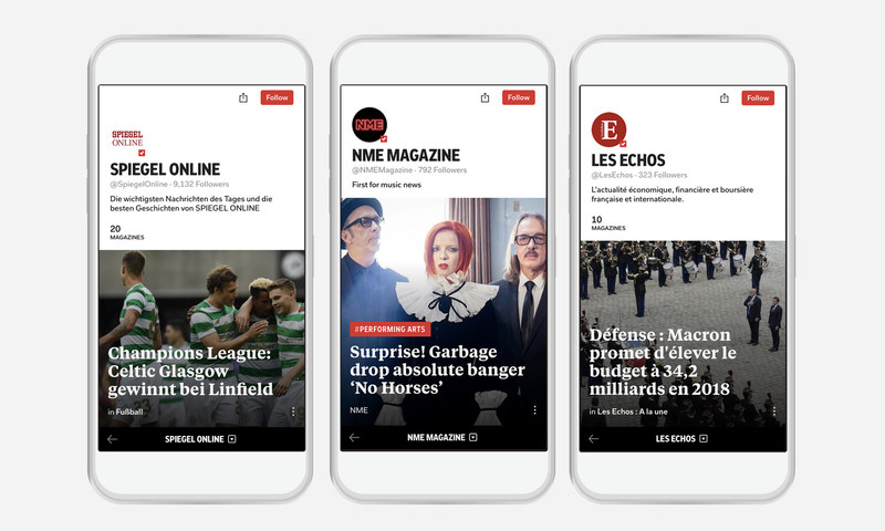 In response to its growing readership in Europe, 90 top publications from France, Germany, U.K., Italy and Spain join Flipboard, improving the overall content quality for Flipboard's European readers.