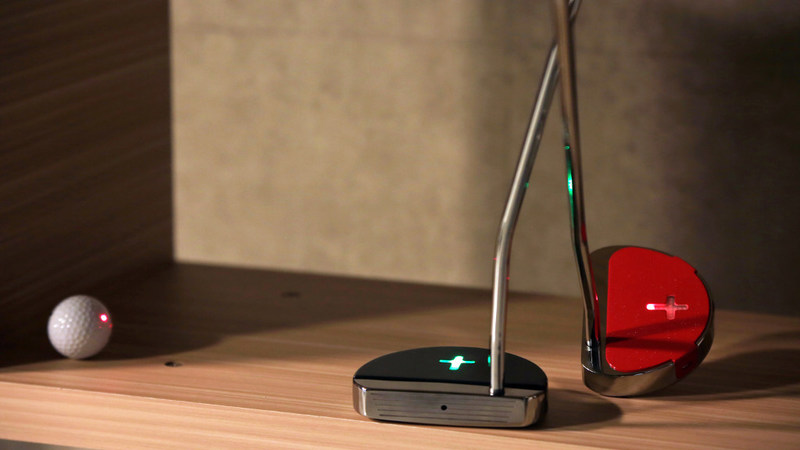 """SMARTGOLF successfully launched """"Smart Putter"""" with built-in LED level indicator, laser pointer on the crowdfunding platform Indiegogo."""