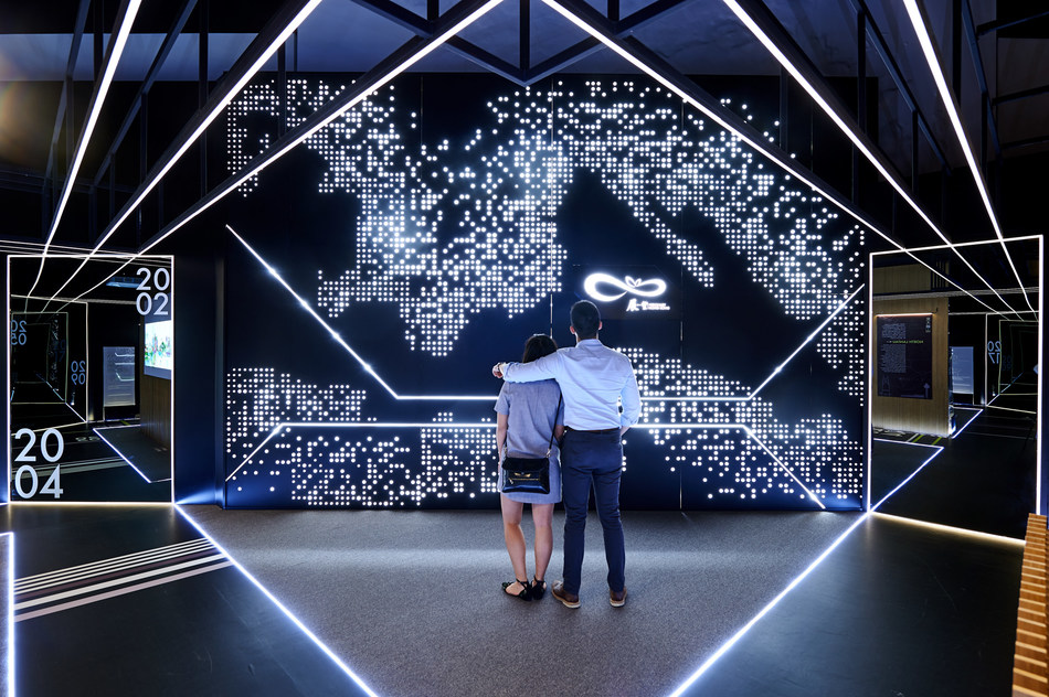 "The ""Visionary Hong Kong"" zone uses a postmodernist approach, leveraging interactive technology, lighting and innovative materials to showcase Hong Kong's major development projects through five iconic models."