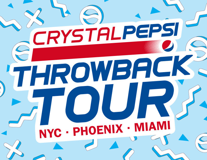 The Crystal Pepsi Throwback Tour is a multi-city tribute to the nostalgia of the 90s with stops in New York, Phoenix and Miami.
