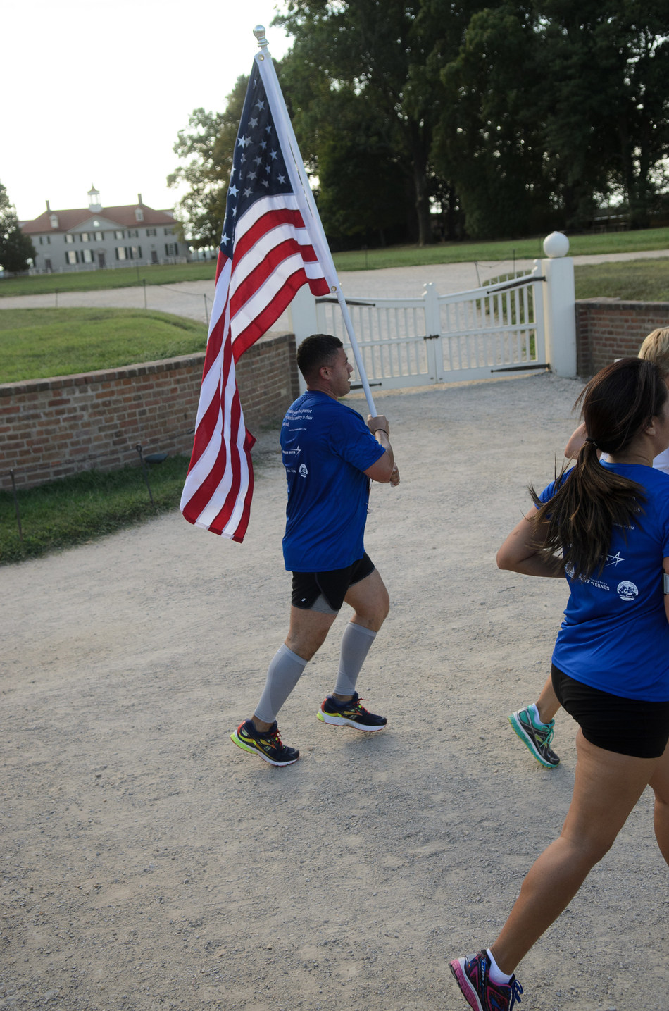The George Washington Patriot Run finishes in Mount Vernon's historic area, steps away from the Mansion. Credit: Stephen Elliott.