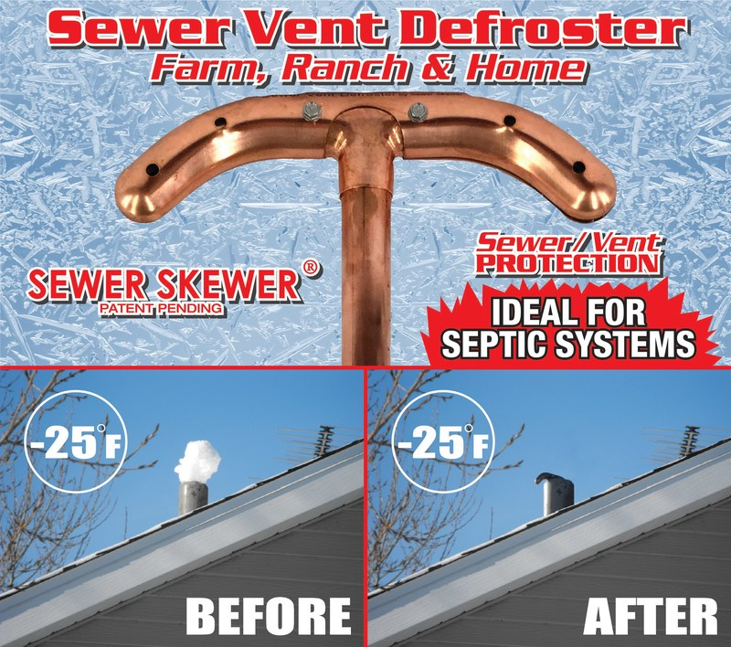 Sewer Vent Defroster - Proof on how it works
