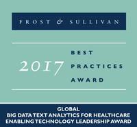 Frost & Sullivan recognizes Linguamatics with the 2017 Global Enabling Technology Leadership Award. (PRNewsfoto/Frost & Sullivan)