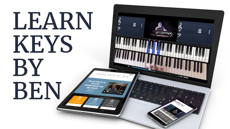 All you need is a piano / keyboard and a phone, tablet or laptop