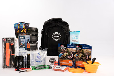 SUSTAIN preparedness kit is contained in a premium, space-saving bag and includes items such as 24 servings of high quality food, up to 6 liters of U.S. Coast Guard approved purified fresh water, 3 sources of dependable light, top-rated water filtration device, Cyalume industrial-grade SnapLight devices, essential first aid kit, emergency blankets, portable wood-burning stove, bowls, utensils and a high-grade survival knife.