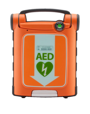 The Powerheart G5 is the first AED approved by Health Canada to combine automatic shock delivery, dual-language rescue prompting in both French Canadian and English, variable escalating energy, and rapid shock times.