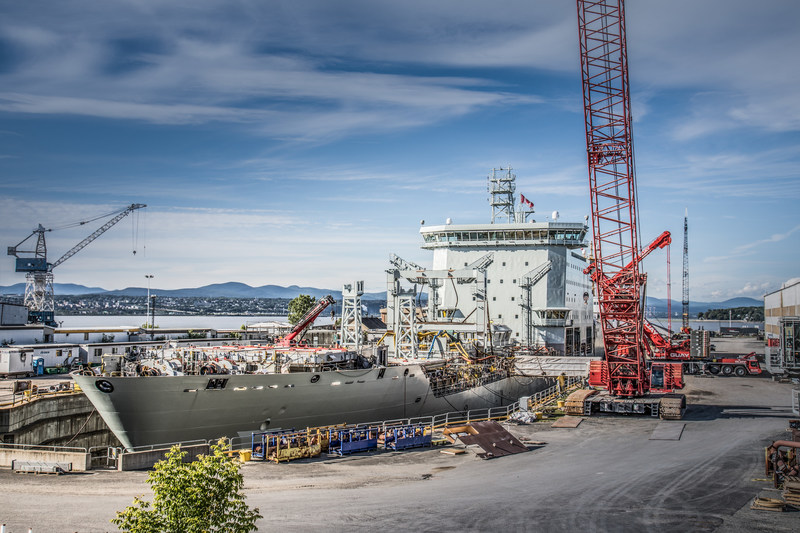 The Asterix - the largest ship ever delivered by a Canadian shipyard (CNW Group/Davie Shipbuilding)