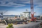L'Astérix - le plus grand navire jamais livré par un chantier canadien (Groupe CNW/Chantier Davie Canada Inc.)