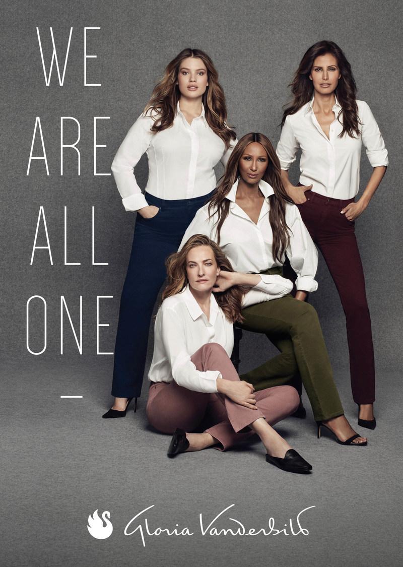 "Gloria Vanderbilt Jeans Re-Emerges with Fall 2017 Campaign Entitled ""We Are All One"" Starring Supermodels Iman, Tatjana Patitz, Elsa Benitez and Tara Lynn"