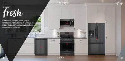 Virtual kitchen tours on Frigidaire.com gives consumers a chance to experience the collection's versatility in a variety of design settings