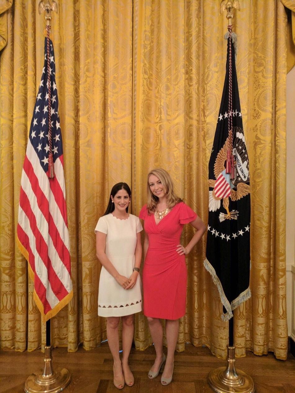 Okabashi CEO Sara Irvani and President Kim Falkenhayn at The White House During Made in America Week